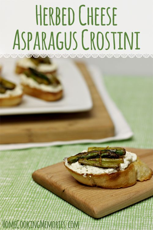 Herbed Cheese Asparagus Crostini - an easy holiday appetizer