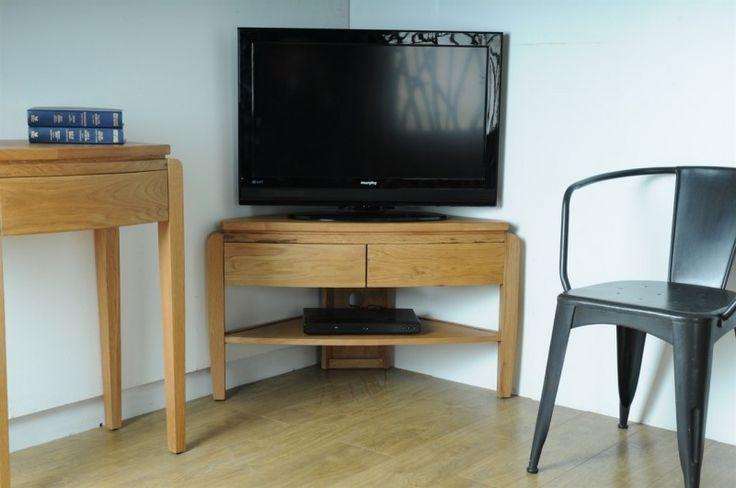 Waldorf Oak Corner TV Unit | Retro Style Furniture