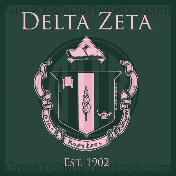 Delta Zeta Crest | Delta Zeta, Crest, Sisterhood, Bid Day, Recruitment, ... | Delta Zeta