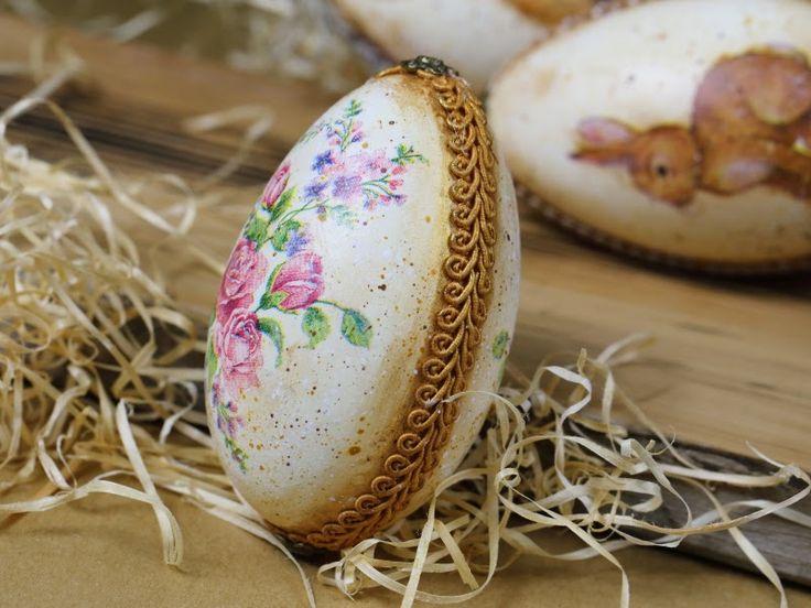 easter egg, bunny, decoupage