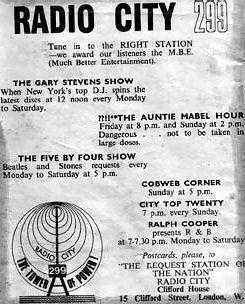 Radio City timetable of programmes
