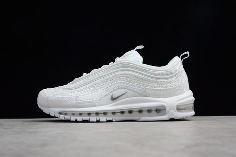 Genuine Men Nike Air Max 97 CR7 All White AQ0655 100