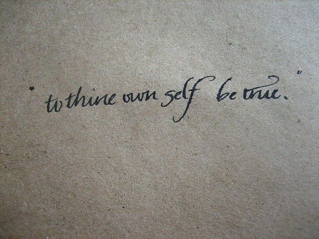 to thine own self be true by rocket ship, via Flickr