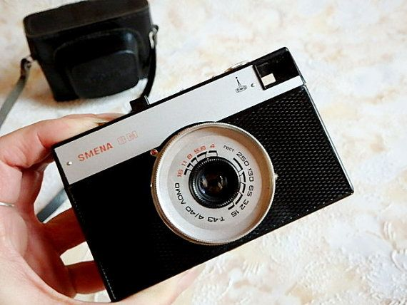 Smena-8M LOMO camera with black leather case and by SovietDreams