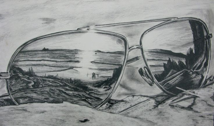 Sunglasses Reflection Drawing | Art | Pinterest