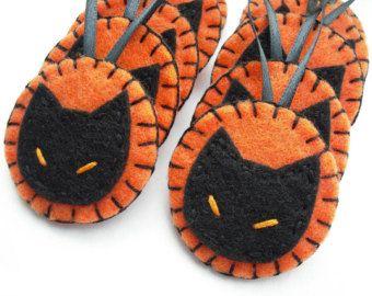halloween ornaments black cat decorations orange and black halloween party favors halloween origami