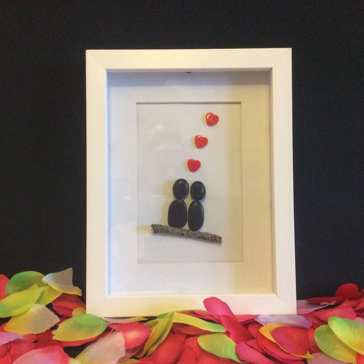 Excited to share the latest addition to my #etsy shop: Pebble art, couple in love #homedecor #framed #heart #husband #wife #partner #pebble #valentines #girlfriend #boyfriend