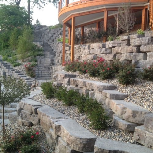 Landscaping can help soften the hardscapes!