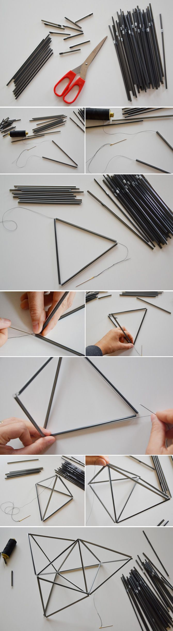 GEOMETRIC MOBILES DIY http://gucki.it/2013/10/09/diy-geometric-mobiles/