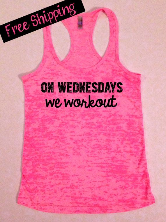 Wednesdays We Workout. Funny Tank Top. Fitness by BlessonsApparel, $26.00