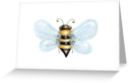 Bumble Bee Blank Greeting Cards by Cherie Roe Dirksen  #bee #greetingcards #cards