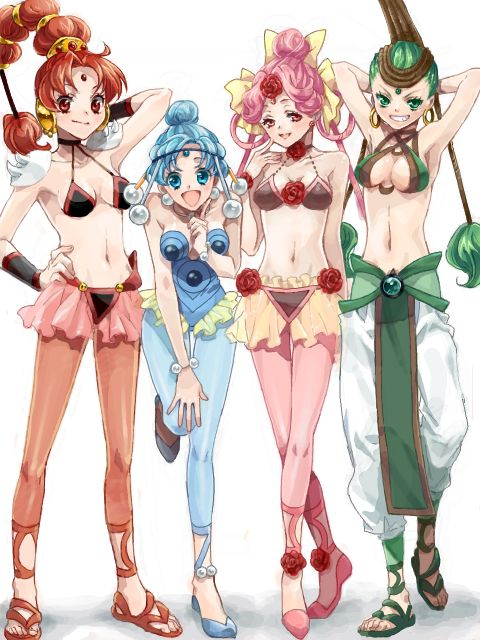The Amazon Quartet; from Sailor Moon Super S.