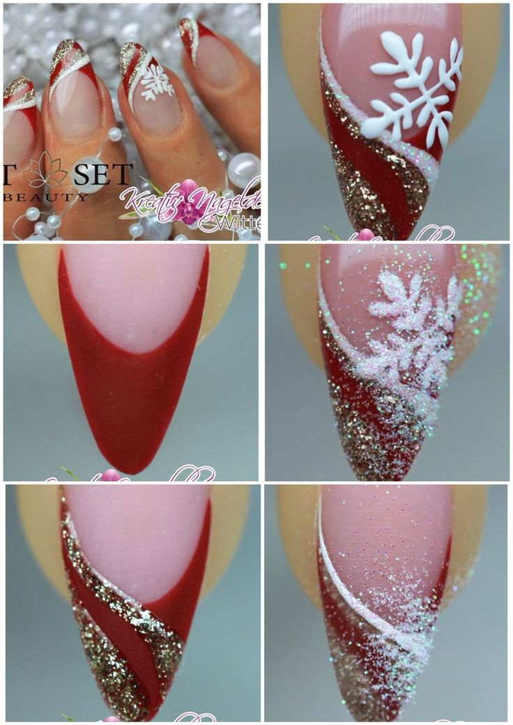 Christmas nails tutorial Luxury Beauty - winter nails - http://amzn.to/2lfafj4