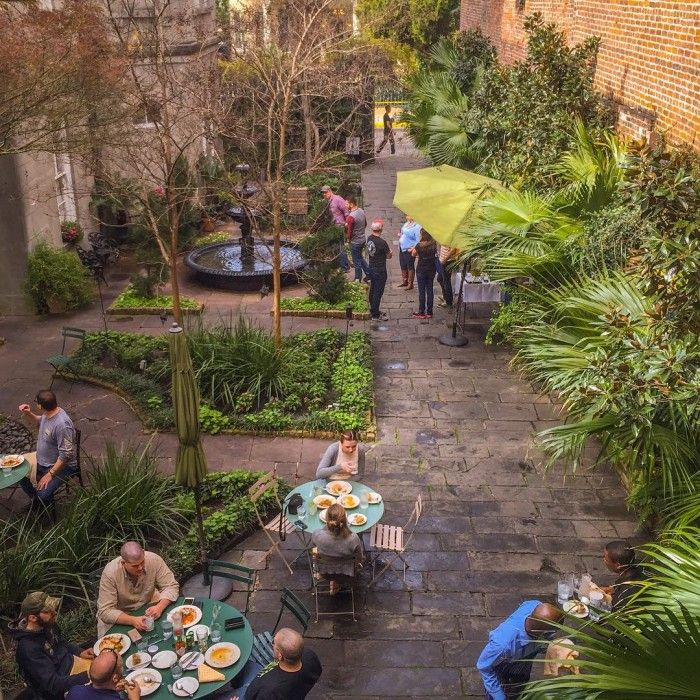 Cafe Amelie. Easily the most gorgeous public courtyard in the French Quarter, the 150-year old Princess of Monaco courtyard will make you fall in love. 912 Royal St, New Orleans, LA