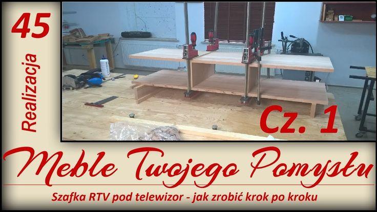Szafka RTV pod telewizor - jak zrobić krok po kroku / TV cabinet - how to do step by step