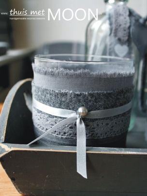 """windlichtje klein uit onze nieuwe collectie """" Romantisch Warm"""". Ontworpen en handgemaakt in ontwerpstudio thuis met Moon. Verkrijgbaar o.a. op webshop www.thuismetmoon.nl en in diverse woonwinkels"""