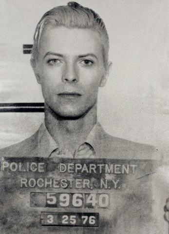 Celebrity Mug Shots: David Bowie mug shot.