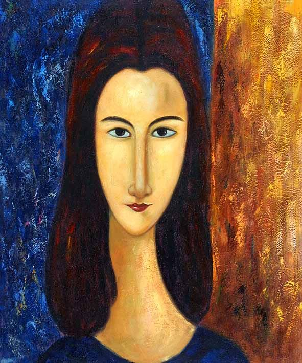 Modigliani's Jeanne. When I was in college my roommate was an art major and she did an awesome painting of Superman in Modigliani style. I've always loved his work ever since that.