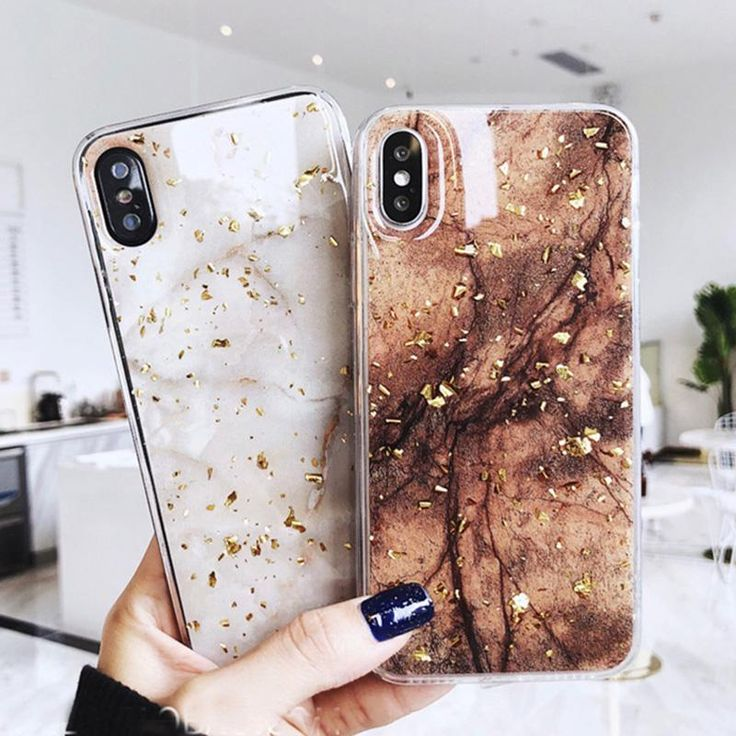 Luxury Gold Foil Bling Marble Phone Cases – Free shipping worldwideiPhone X 10 C…