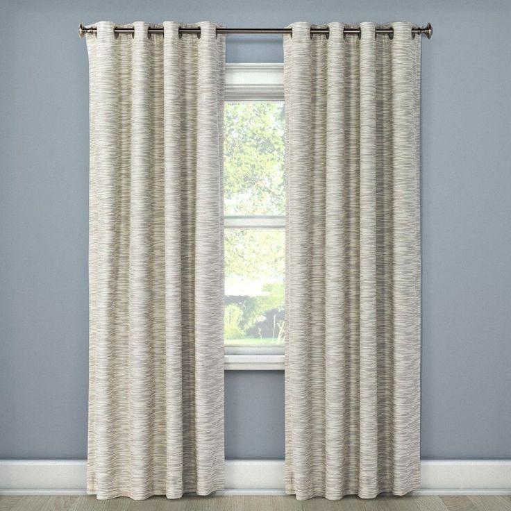 "Tara Stripe Light Blocking Curtain Panel Ivory (50""x108"") - Eclipse"
