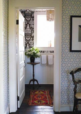 Treillis Wallpaper - Bleu by Philip Gorrivan Design