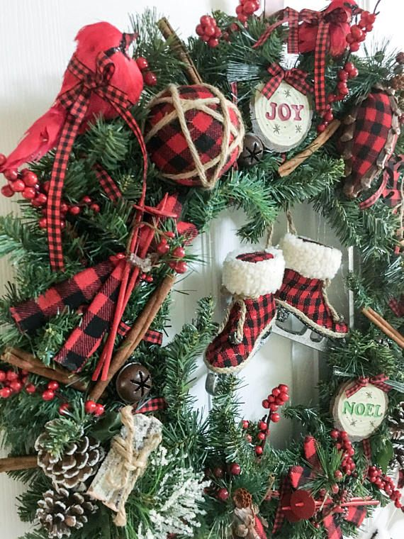 this red and black plaid christmas wreath is both rustic and classic and one of