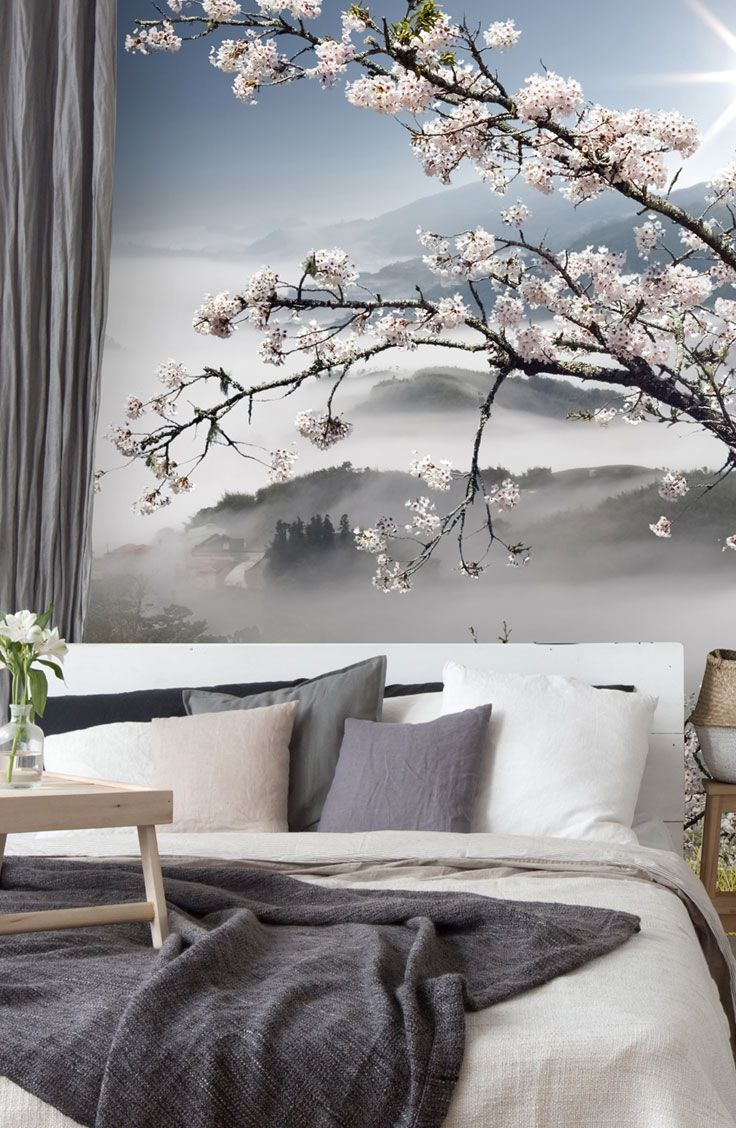 Japanese Walkway Wallpaper Wallsauce Us Feature Wall Bedroom Wallpaper Bedroom Feature Wall Japanese Inspired Bedroom
