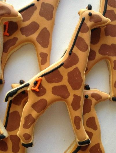 Giraffe Sugar Cookies by SugarySweetCookies on Etsy