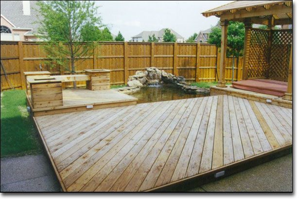 30 best patio planters and bench images on pinterest for Outdoor decking boards