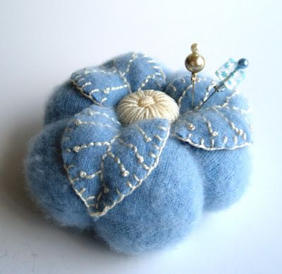 You could use an old felted sweater for this one. fiberluscious: The Classic Pincushion