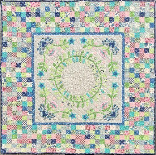 """Mosaic Wreath"" designed by Rosalie Dekkar for Rosalie Dekkar Designs."
