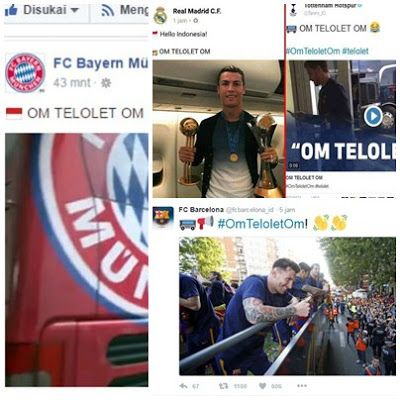 """OM TELOLET OM ~ Virus Telolet sudah mendunia dan para pesepakbola seperti Messi, CR7 tak ketinggalan terbawa arus Trending Topic """"Om Telolet Om"""" yang fenomenal...."""