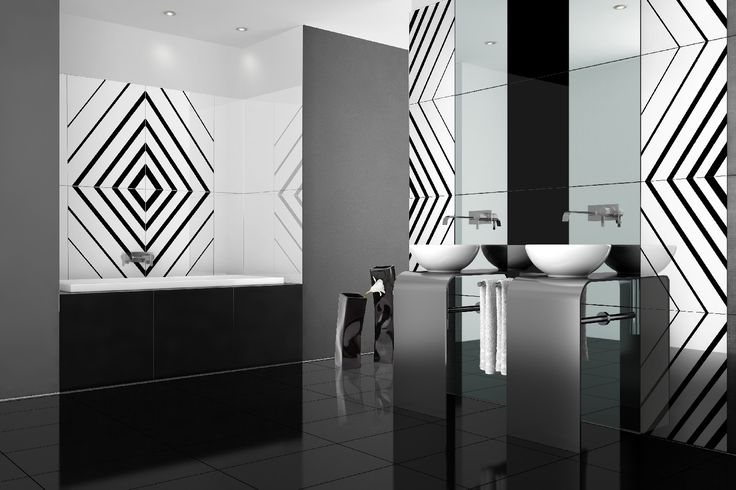 A little bit of geometry with Opp! tiles and Lines decoration. http://ceramstic.com/pl/opp/