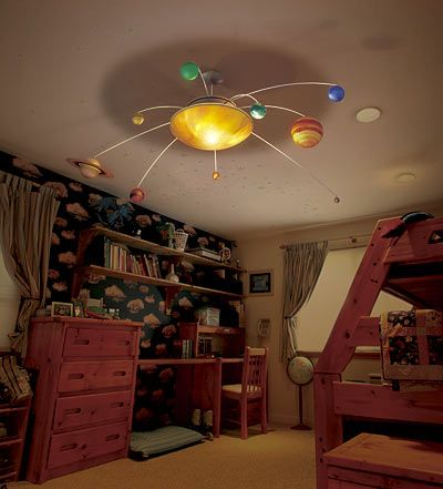 R/C Animated Solar System Mobile - No longer on site to purchase, but good inspiration for a DIY.
