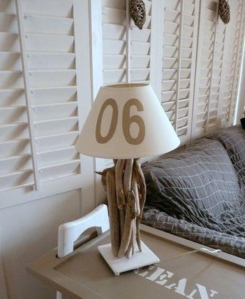 Relookage d'une lampe ikéa en lampe en bois flotté sur le #CDB