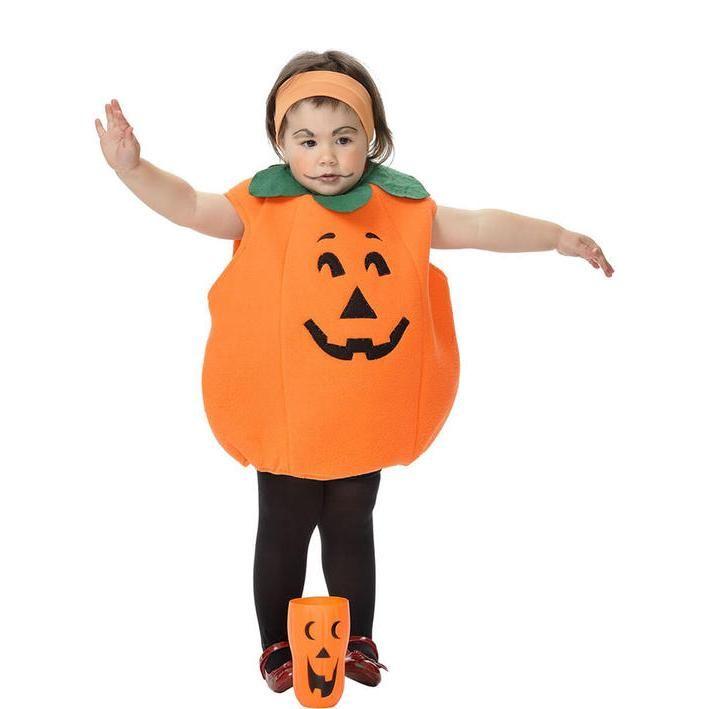 Disfraz de calabaza de halloween para bebé