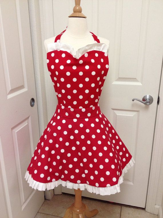 Minnie Mouse costume apron by AJsCafe on Etsy, $45.00