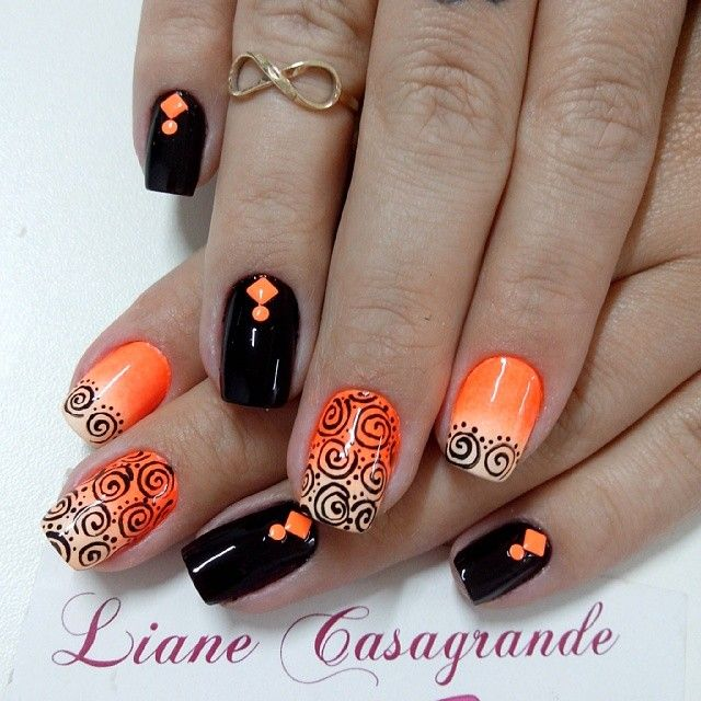 October Nail Art: 1492 Best Images About I Like Nails On Pinterest