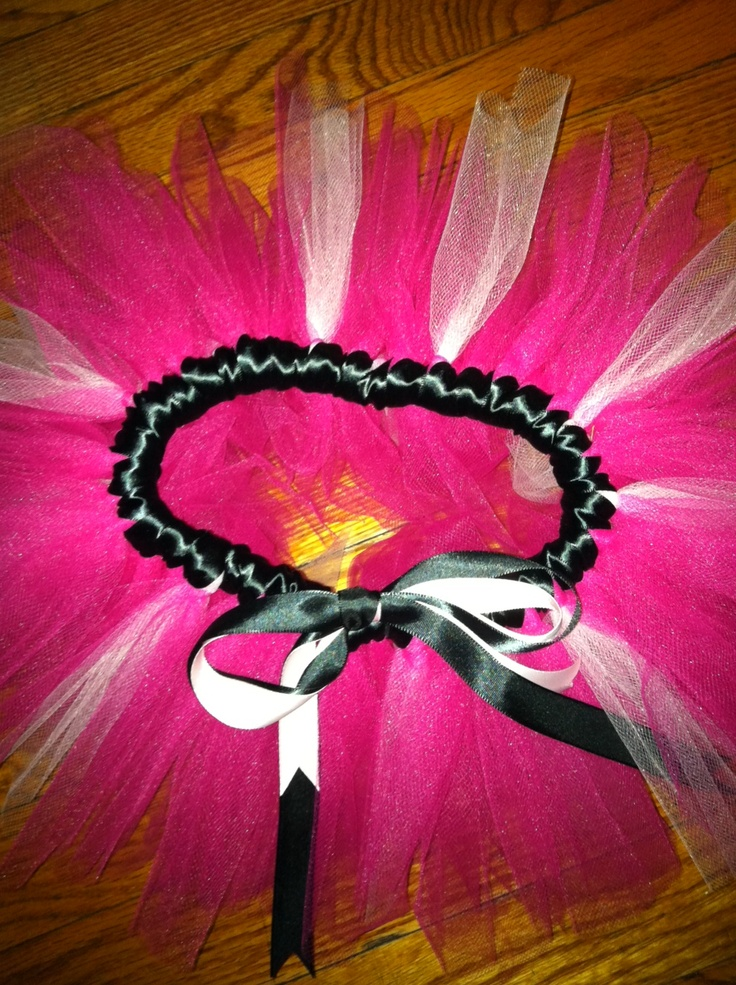 pink with a black ribbon band