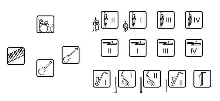 Jazz ensemble stage diagram