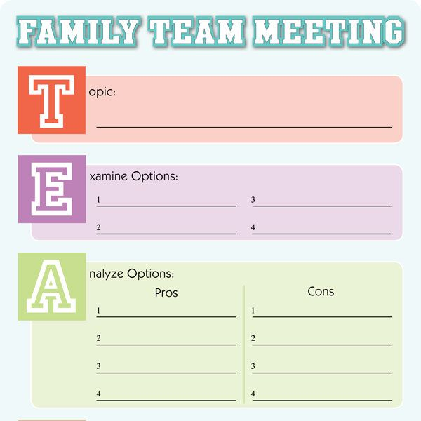 The 25+ best Family meeting ideas on Pinterest Group counseling - best meeting agenda template
