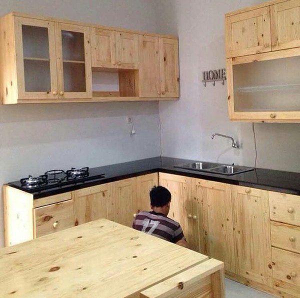Lemari Dapur Gantung Kayu Minimalist Kitchen Design Elegant Kitchen Design Kitchen Sets