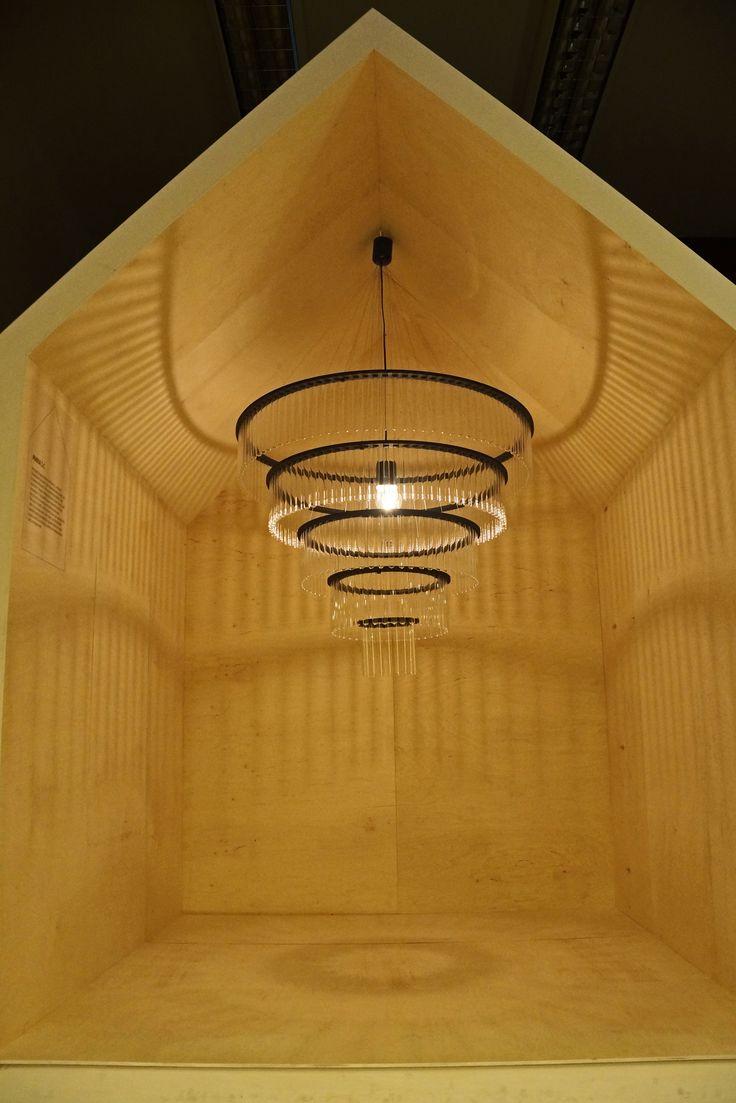 Huge black Maria SC chandelier presented during Designblok