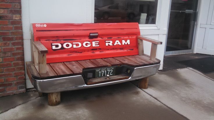 bench made out of dodge truck tailgate - Google Search