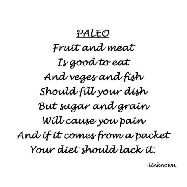 Paleo poem Woohoo Pinterest Paleo recipes Paleo and