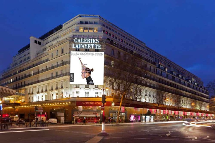 Galeries Lafayette Paris - shopping and seeing the view from the rooftop terrace