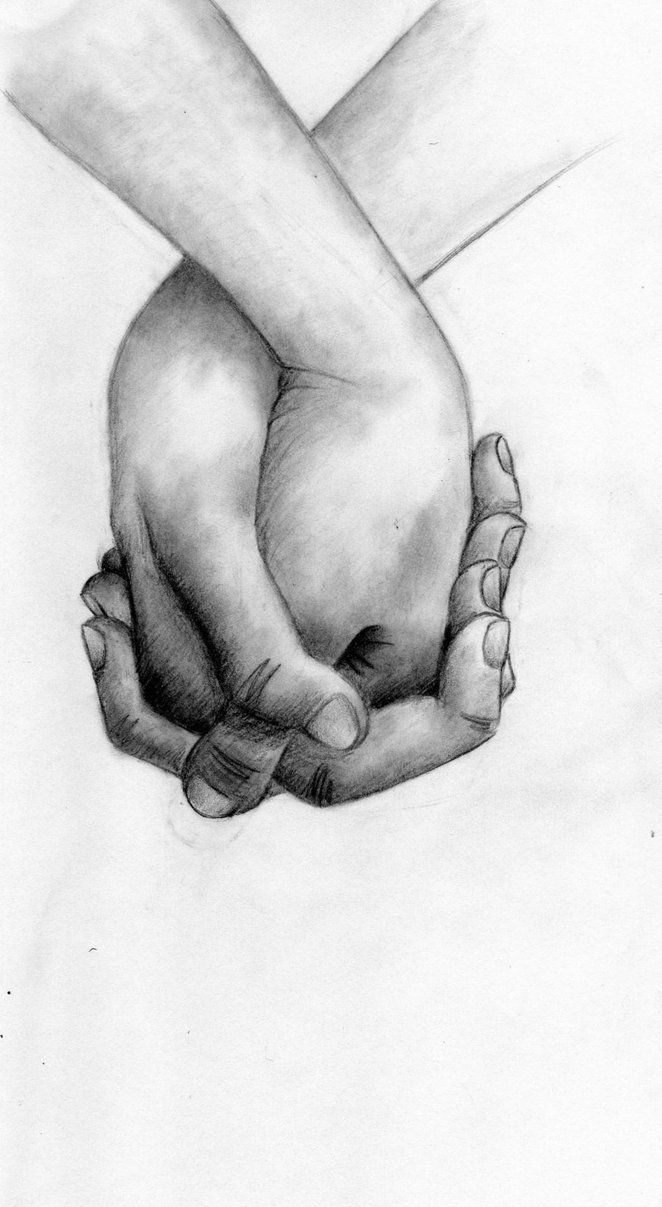Images For > Two Hands Holding Drawing