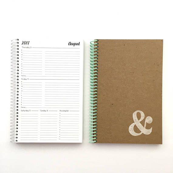 2017/2018 wekelijkse en maandelijkse Planner | KLEINE | 12 maanden | Agenda | Academische