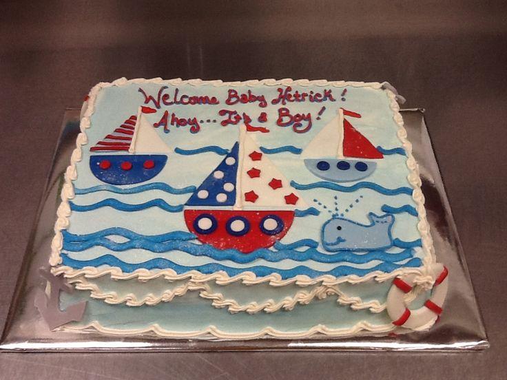 Nautical theme baby shower cake shower ideas pinterest - Baby shower ideas economicas ...