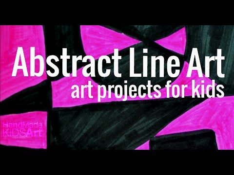 Art Projects for Kids: Abstract Line Art - Hand Made Kids Art